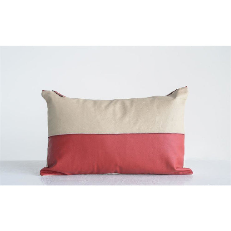 Red & Bone Pillow