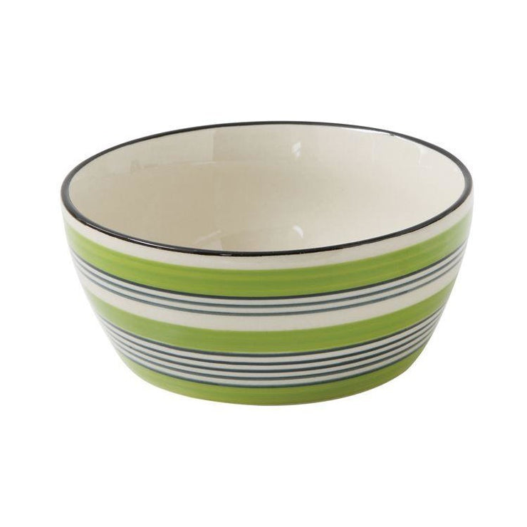 Small Green Stripe Bowl