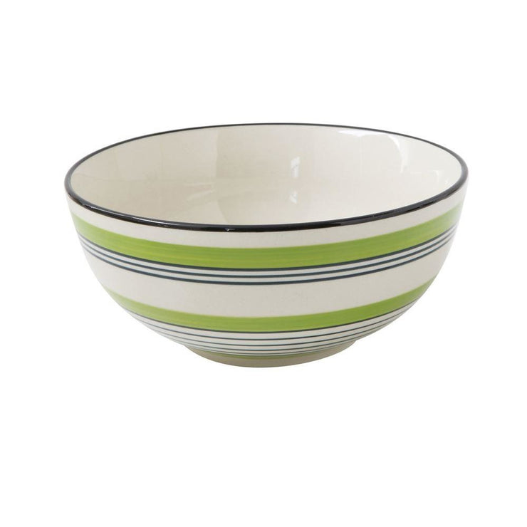 Green Stripe Bowl