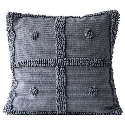 Cotton Chenille Pillow, Grey