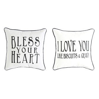 Cotton Pillow with Southern Saying
