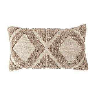 Cotton Blend Chenille Lumbar Pillow