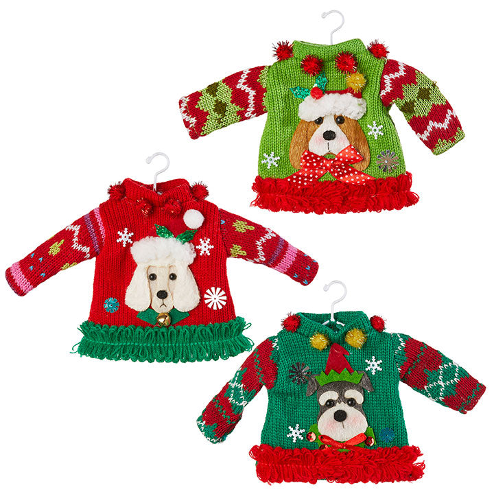 Dog Sweater Ornaments