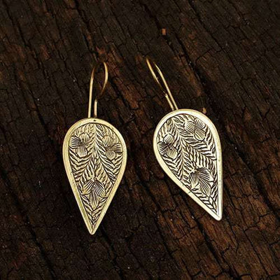 Etched Petal Earrings