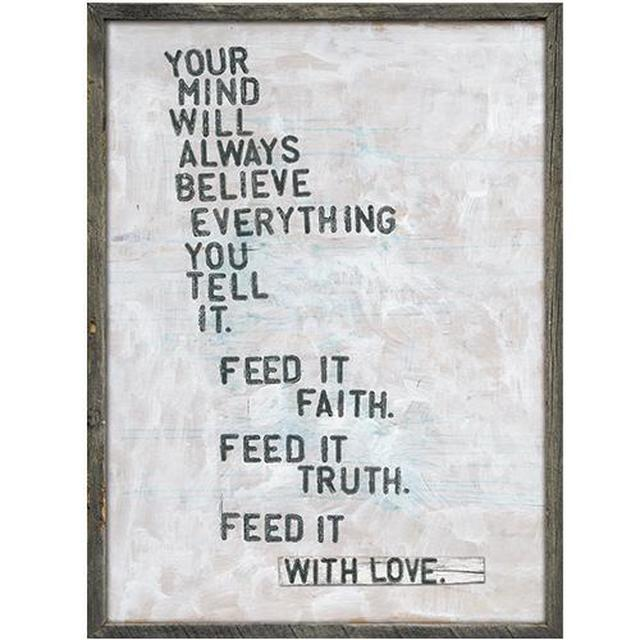 Faith, Truth & Love Wooden Quote Sign