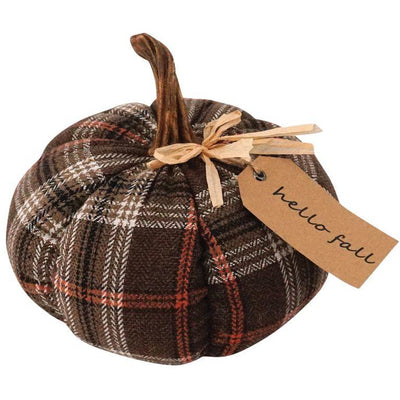 Plush Plaid Harvest Pumpkin