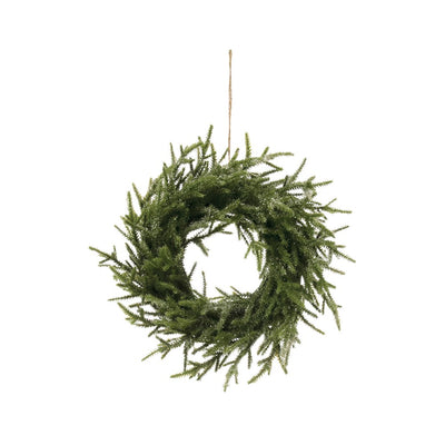 Faux Pine Wreath-Ice Finish