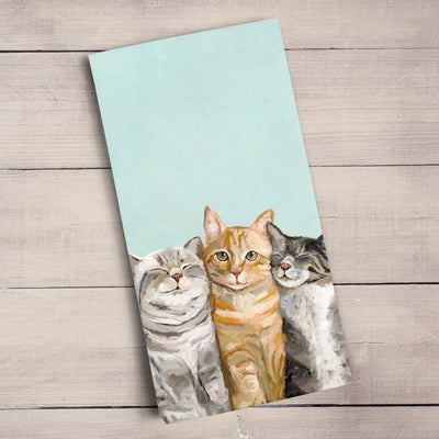 Feline Friends - Three Cats Plus One Tea Towels