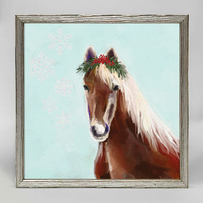 Festive Horse Embellished Canvas