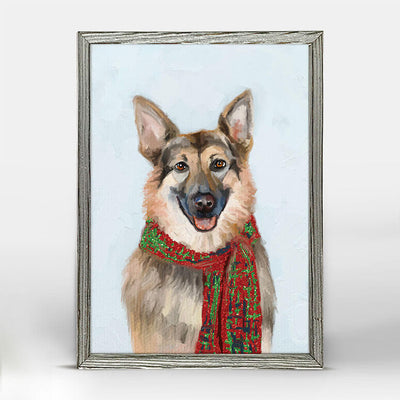 Festive German Shepherd Embellished Canvas