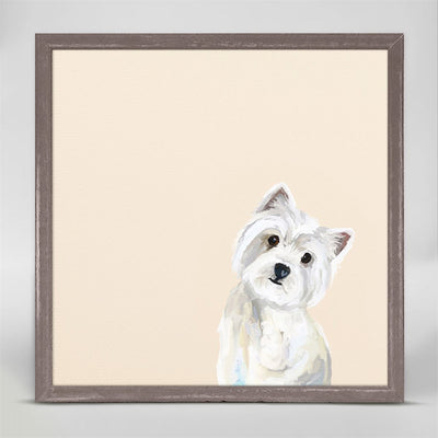 Best Friend, Westie - Mini Framed Canvas