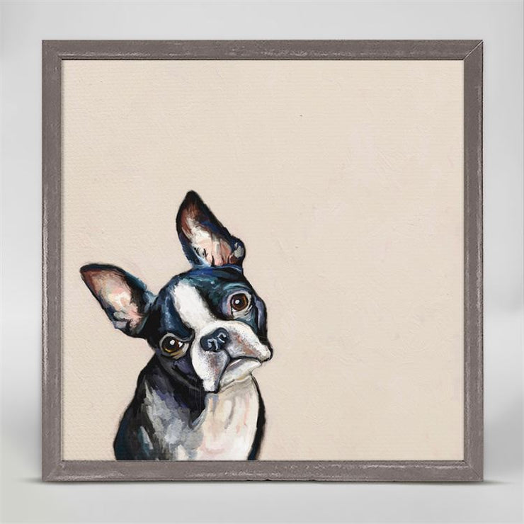 Best Friend, Boston Terrier - Mini Framed Canvas