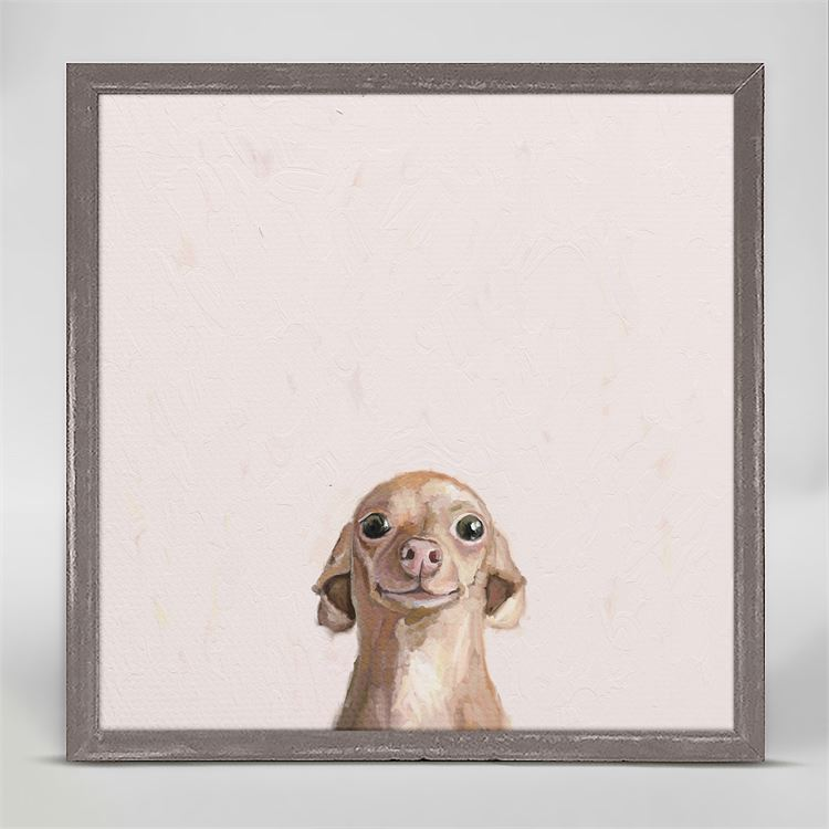 Best Friend, Wide Eyed Chihuahua - Mini Framed Canvas