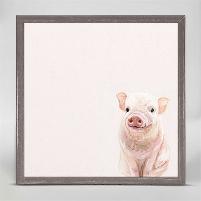 Spring Piglet  Mini Framed Canvas
