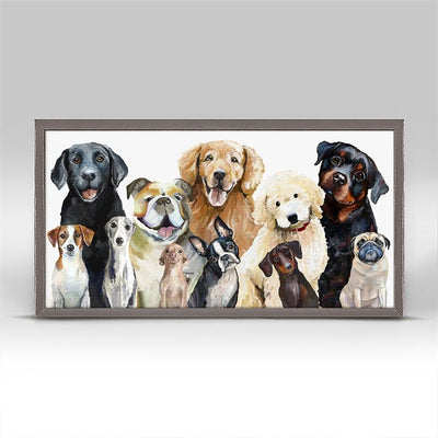 Best Friend, Dog Bunch - Mini Framed Canvas