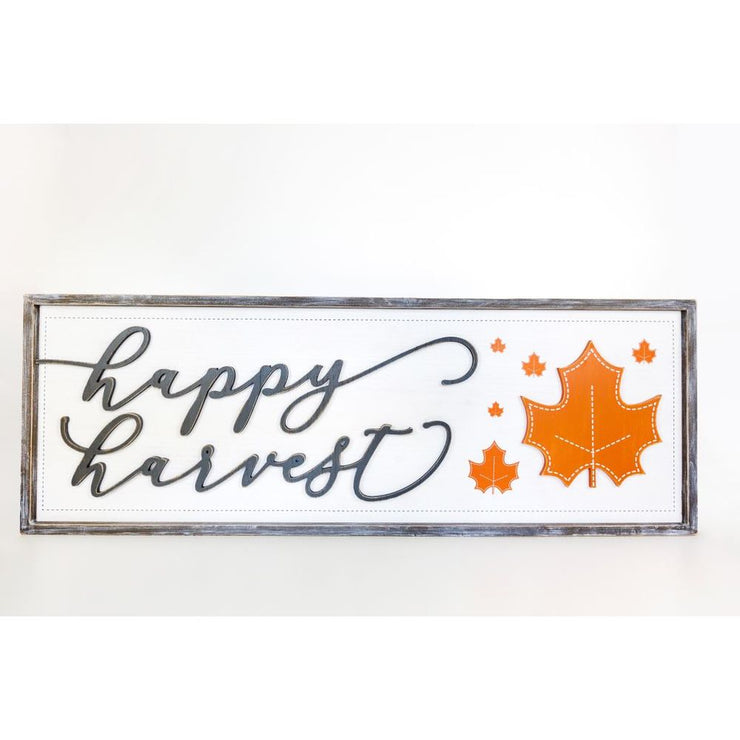 "Reversible ""Happy Harvest""/""13 Nights of Halloween"" Wooden Sign"