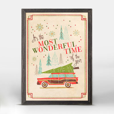 Wonderful Time Wagon Embellished Canvas