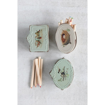 Vintage Bird & Nests Box
