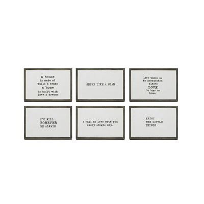 Metal & Glass Frame Sayings W/ Easel