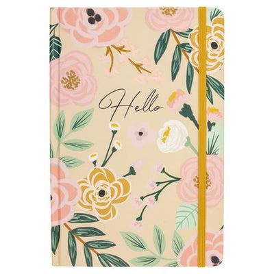 Mustard Floral Hardbound Journal/notebook