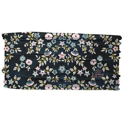 Thin Headband-Navy Floral