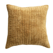 Golden Quilted Cotton Chenille Pillow