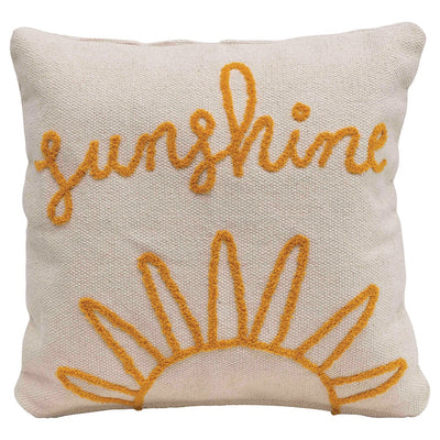 """Sunshine"" Square Pillow"