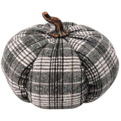 Plush Plaid Pumpkin