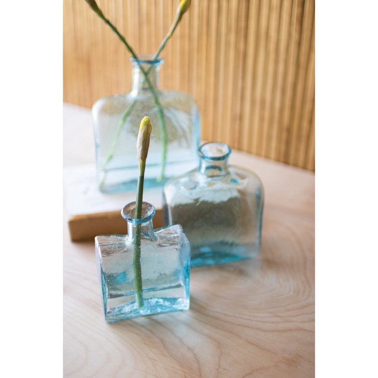 Recycled Square Glass Vases- 3 sizes available