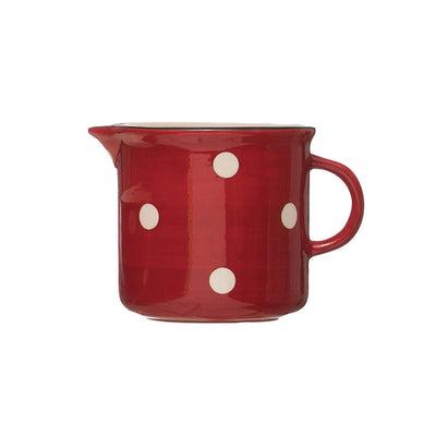 Red & White Polka Dot Pitcher