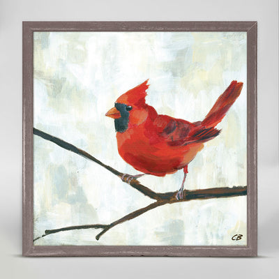 Red Cardinal Mini Framed Canvas Cody Blomberg  Giclee On Canvas 6x6