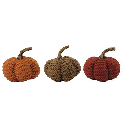 Fall Harvest Knit Pumpkins