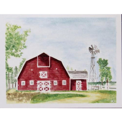Red Barn Card By Hallie Darling