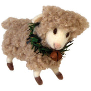 Felted Lamb with Green Collar