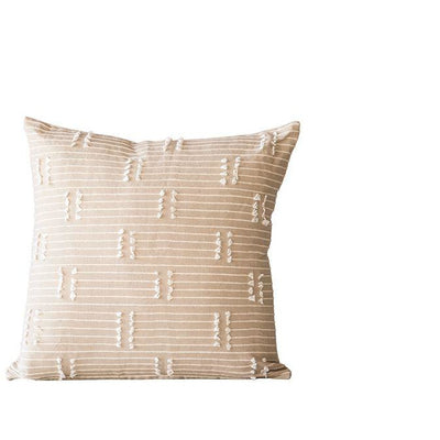 Taupe Pillow with Tassels