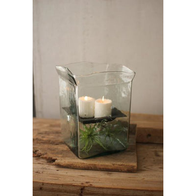 Vintage Square Candle Hurricane