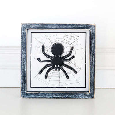 Wooden Spider Halloween Sign
