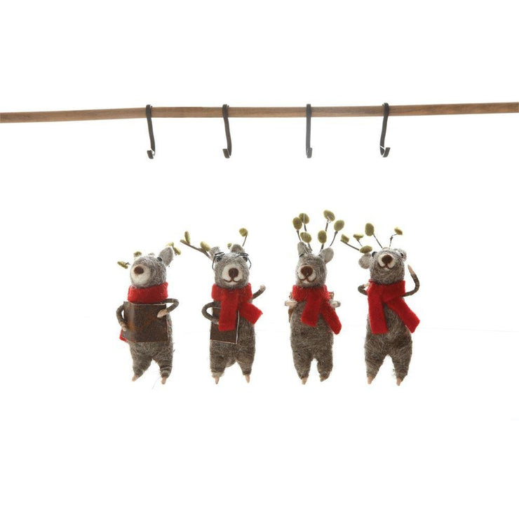 Choir Felt Reindeer Ornaments