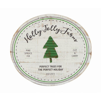 Holly Jolly Farm Sign