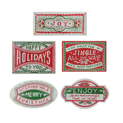 Holiday Embossed Metal Wall Decor