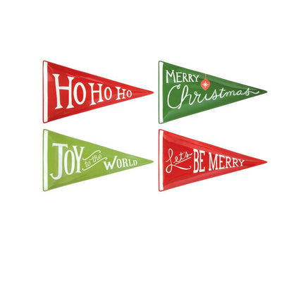 Ceramic Holiday Pennants