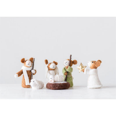 Felt Mouse Nativity