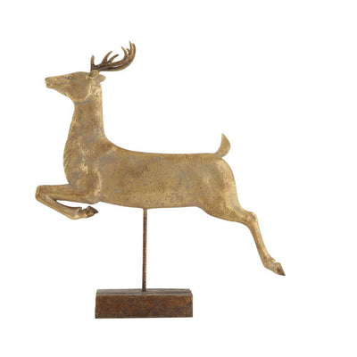 Deer on stand with Gold Finish
