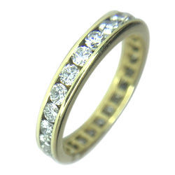 18 KT YELLOW GOLD ROUND DIAMOND WEDDING BAND - 1.48 CT