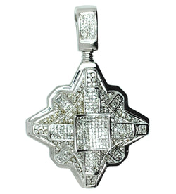 14 KT - White Gold Diamond Pendant - 4.31 CT