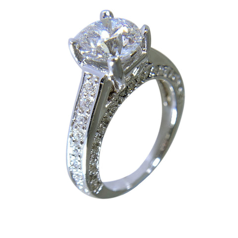 14 WHITE GOLD - GORGEOUS DIAMOND RING - 2.47 CT