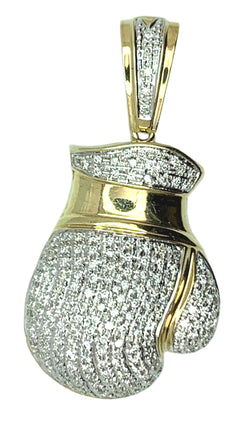 10 KT - Yellow Gold Glove Diamond Pendant - 1.50 CT