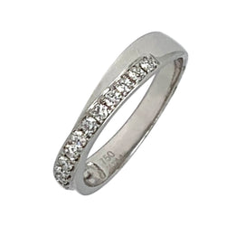 18 KT WHITE GOLD ROUND DIAMOND WOMENS RING - 0.22 CT