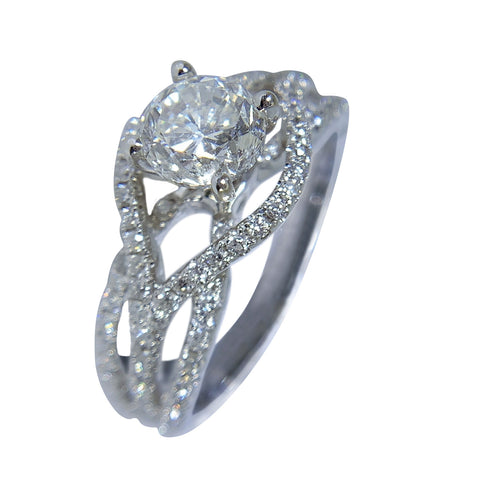 18KT WHITE GOLD WOMENS ENGAGEMENT RING - 1.94 CT