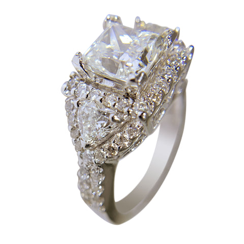 PLATINUM ANIVERSARY DIAMOND RING - 3.46 CT